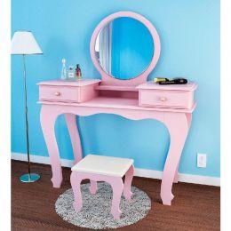 Penteadeira com espelho Rosê Brilho Izabel 7800 - JB Bechara
