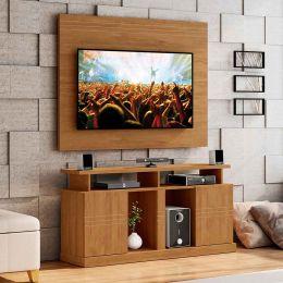 Rack com Painel Para Tv Até 55 Polegadas Amêndoa Orion