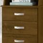Mesa de Cabeceira Luxo 3 Gavetas Malbec - EJ Móveis