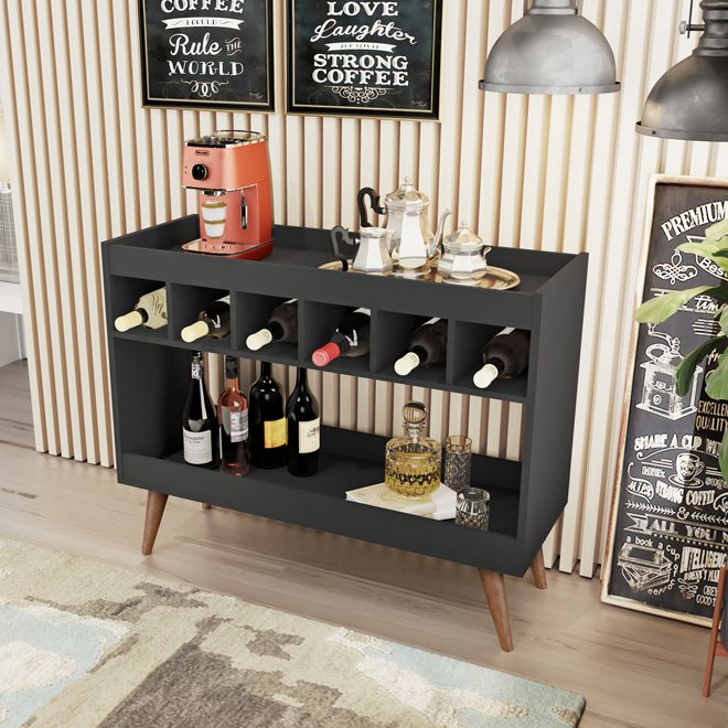 Aparador Bar Royal Luxo Preto - LH Móveis