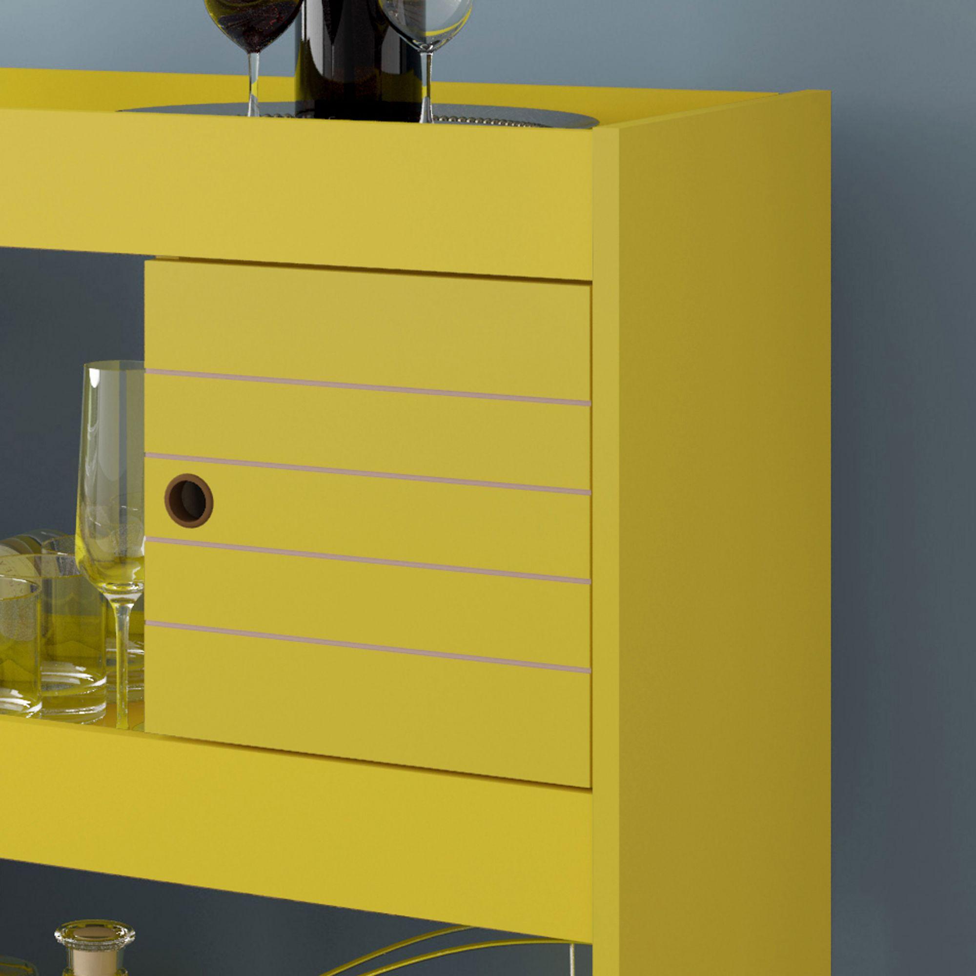 Aparador Bar Cristal Amarelo - Móveis Bechara