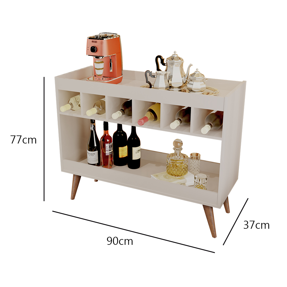 Aparador Bar Royal Luxo Pérola - LH Móveis