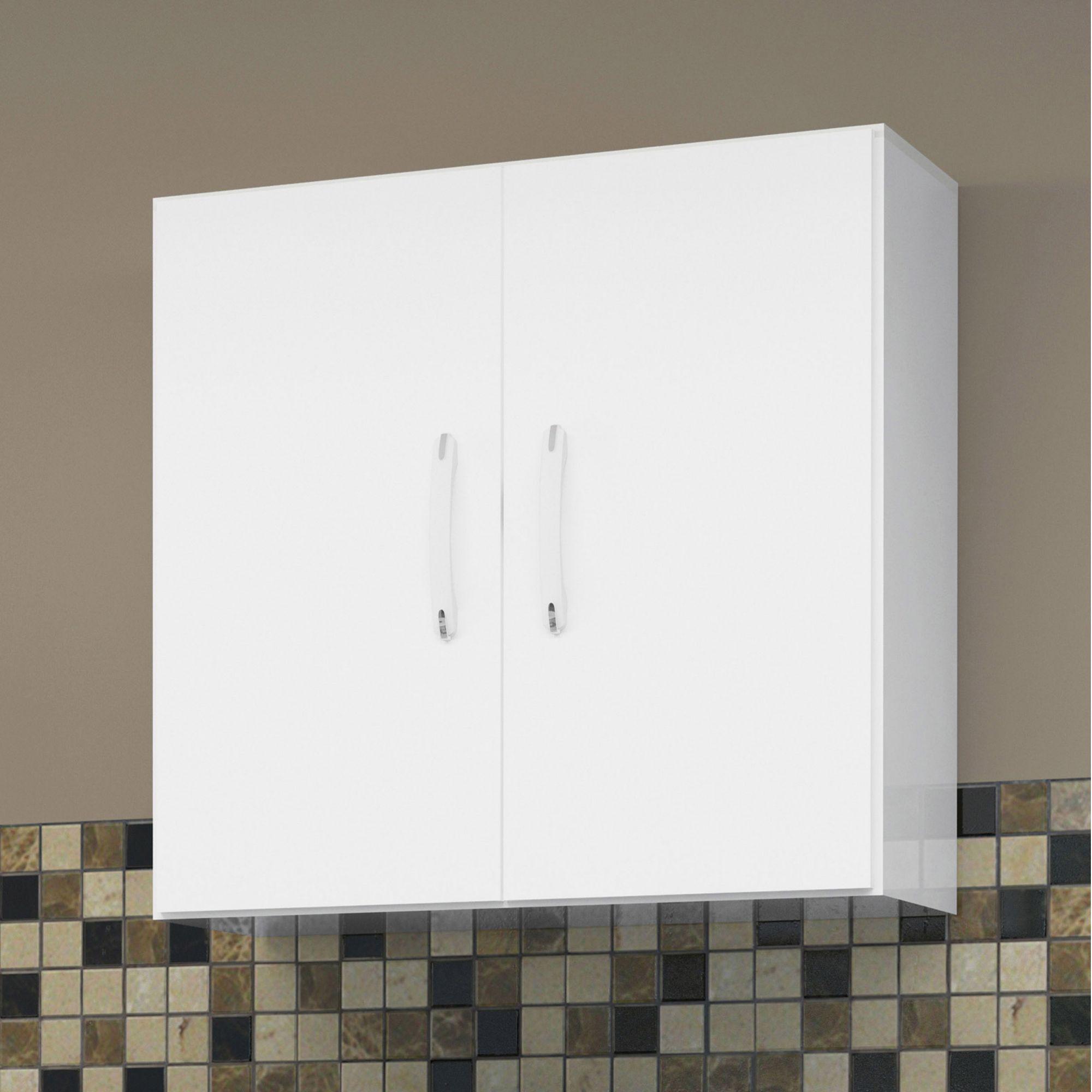 Armário 2 Portas com Balcão Micro-ondas Branco - EJ Móveis