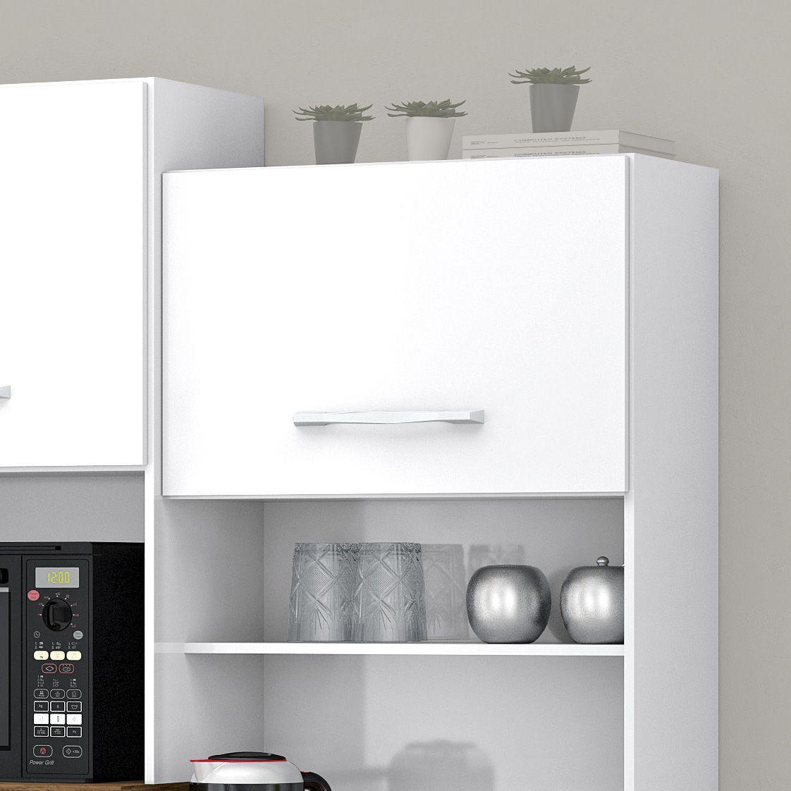Armário para Cozinha 4 Portas Branco Pérola