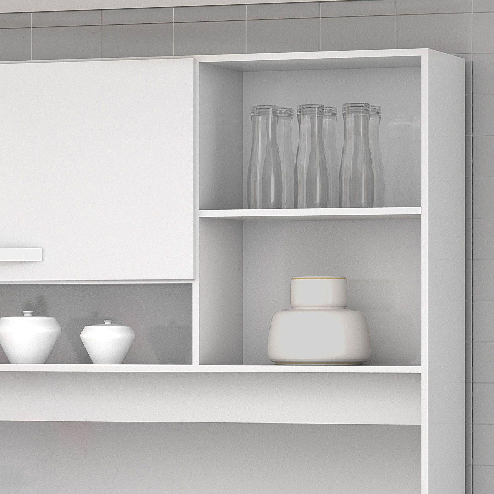 Armário para Cozinha 5 Portas Branco Diamante