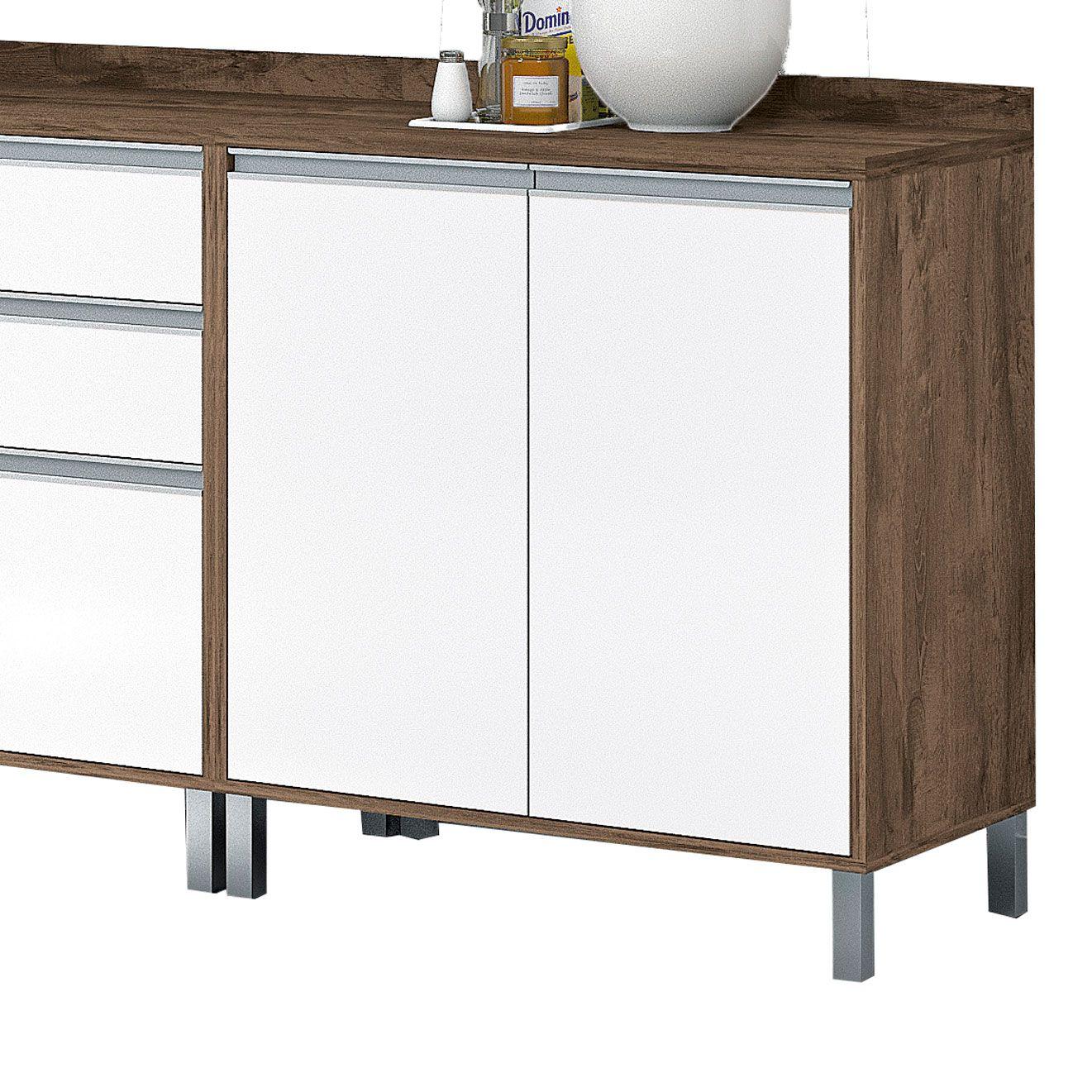 Armário para Cozinha 9 portas com Vidro Turquesa