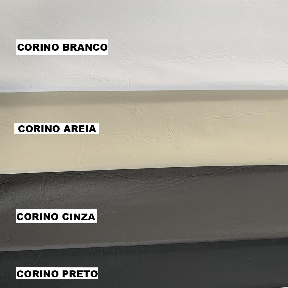 Cabeceira Box Casal Bella 1.40 Corino Preto - LH Móveis