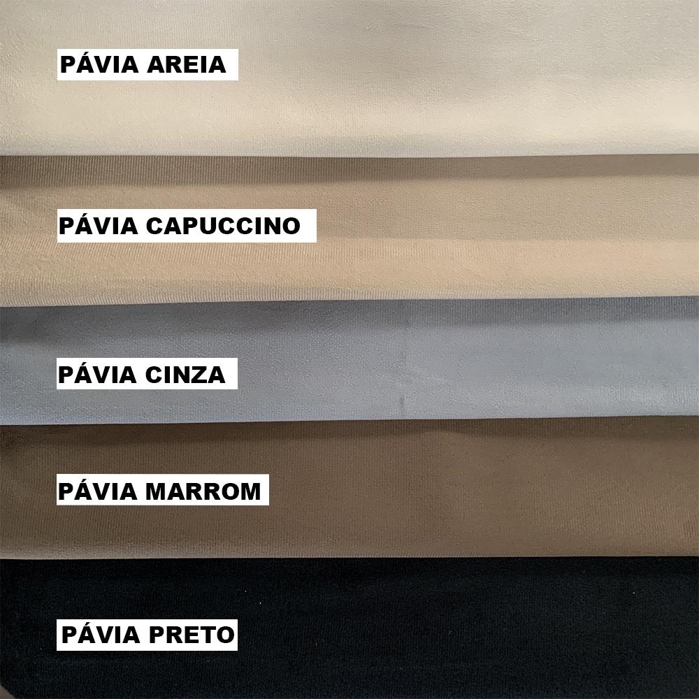 Cabeceira Box Casal Bella 1.40 Suede Pávia Preto - LH Móveis