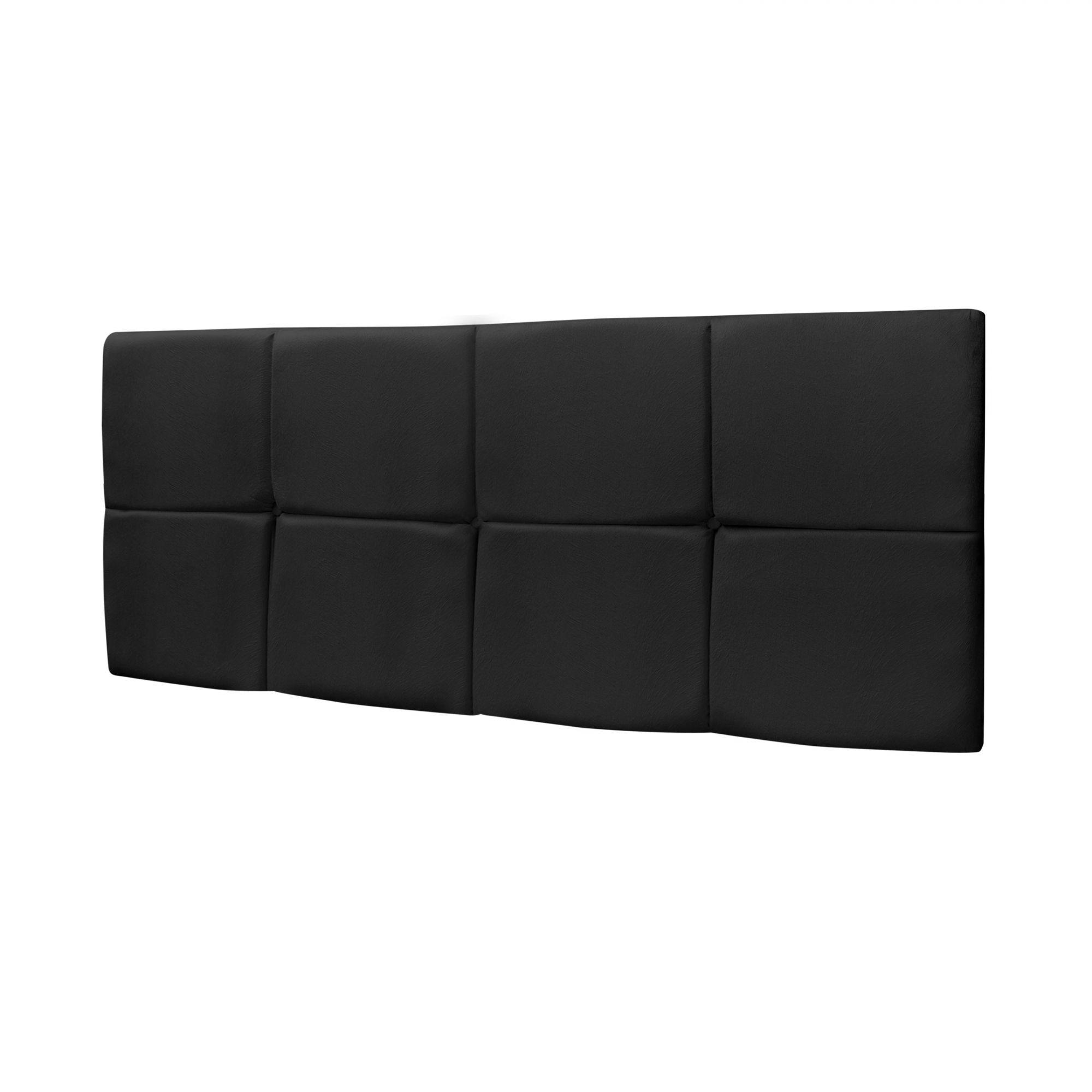 Cabeceira Box Casal Bella 1.40 Suede Preto - LH Móveis