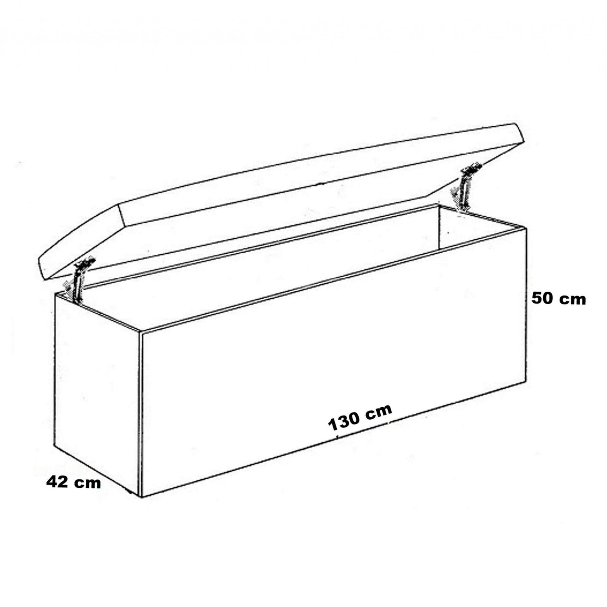 Cabeceira Box Casal com Recamier Siena 1.4 Suede Cinza - R.A Estofados