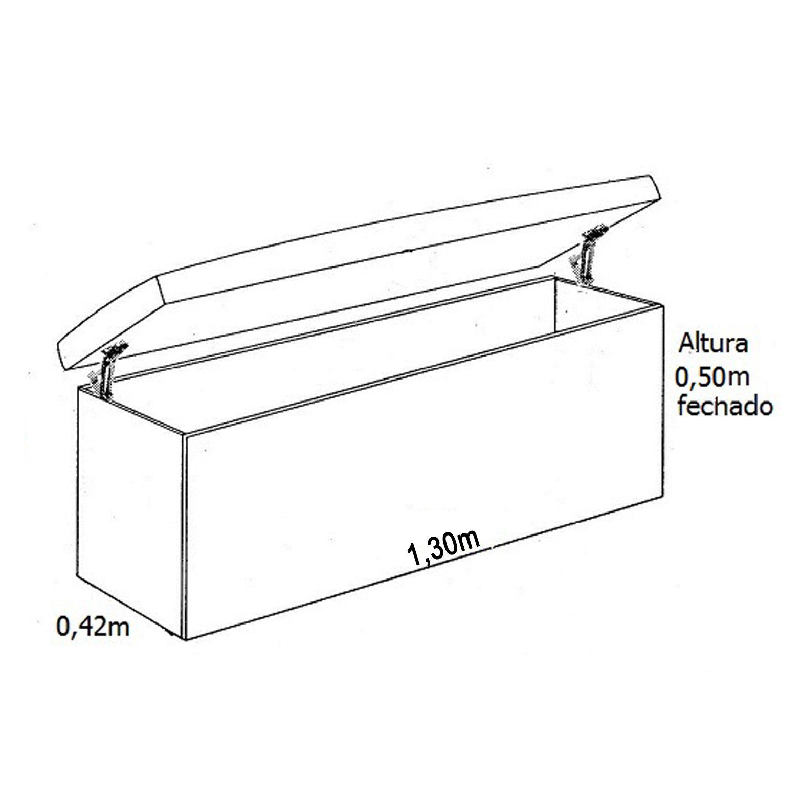 Conjunto Cabeceira Box Casal com Recamier Tokyo 1.4 Suede Preto - R.A Estofados