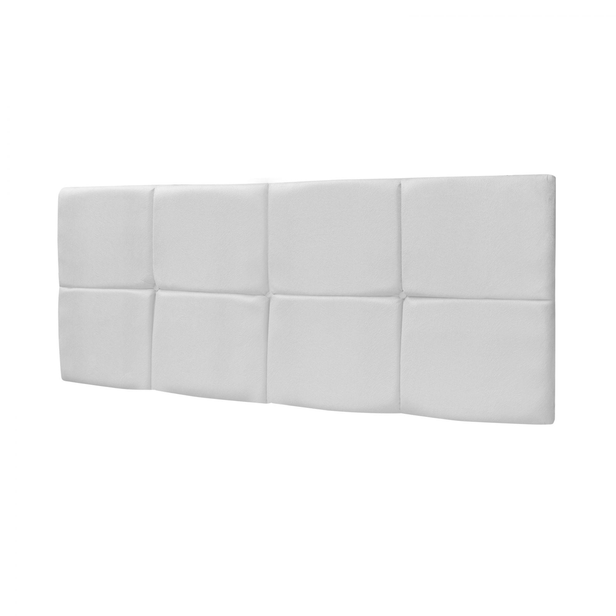 Cabeceira Box Queen Bella 1.60 Corino Branco - LH Móveis