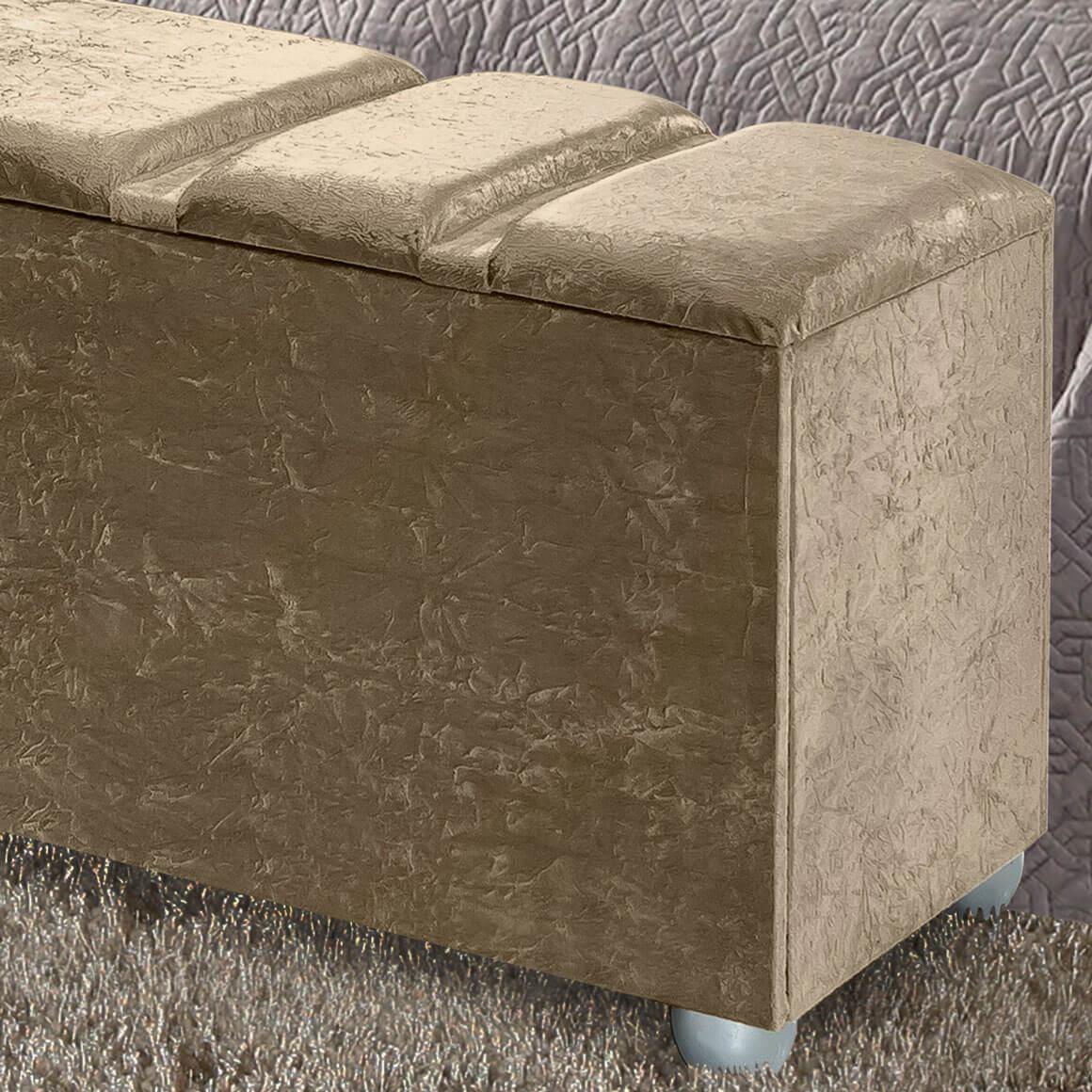 Cabeceira Box Queen com Recamier Siena 1.6 Suede Beje - R.A Estofados