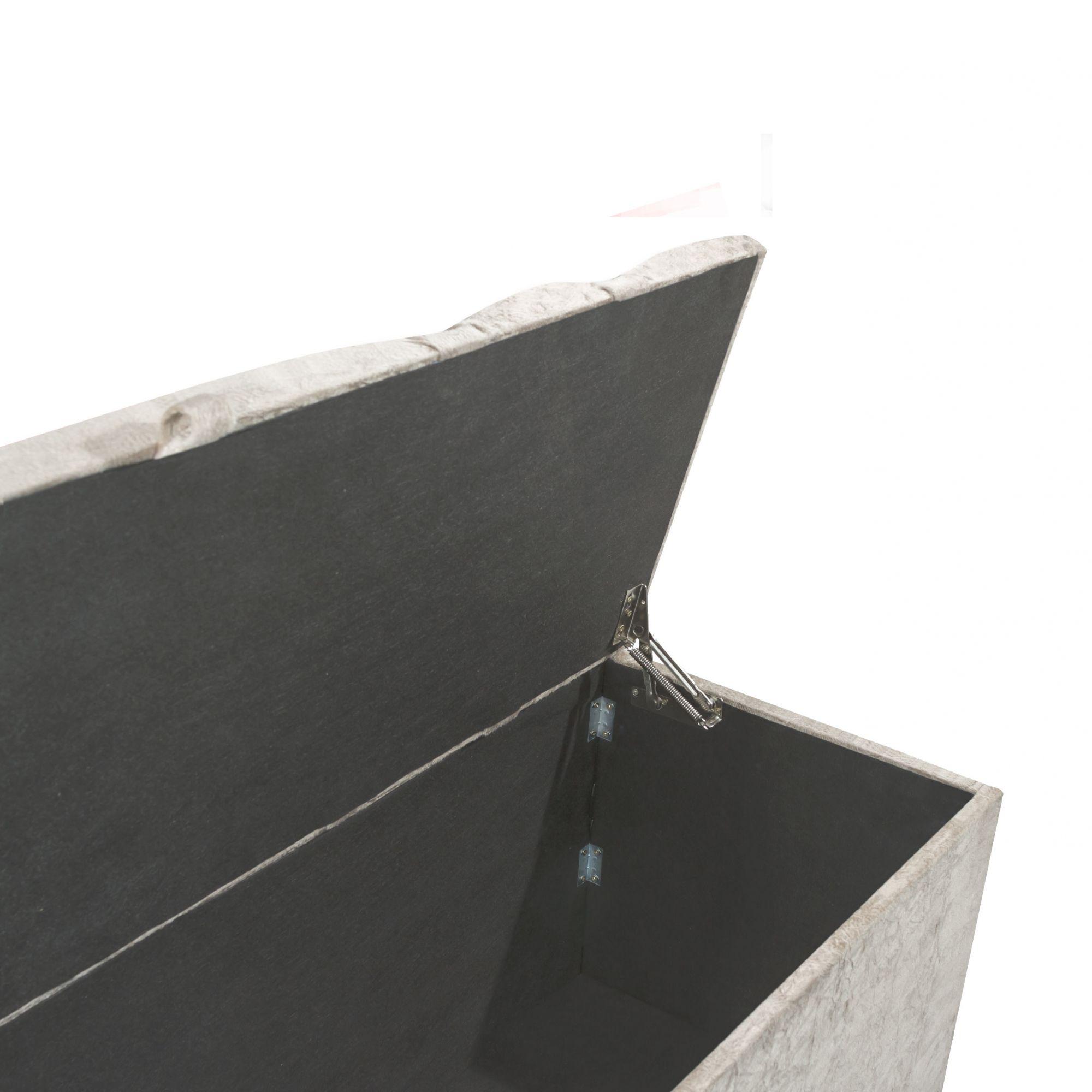Conjunto Cabeceira Box Queen com Recamier Tokyo 1.6 Suede Cinza - R.A Estofados