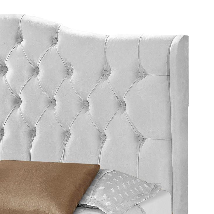 Cabeceira Box Solteiro Dubai 0.90 Corino Branco