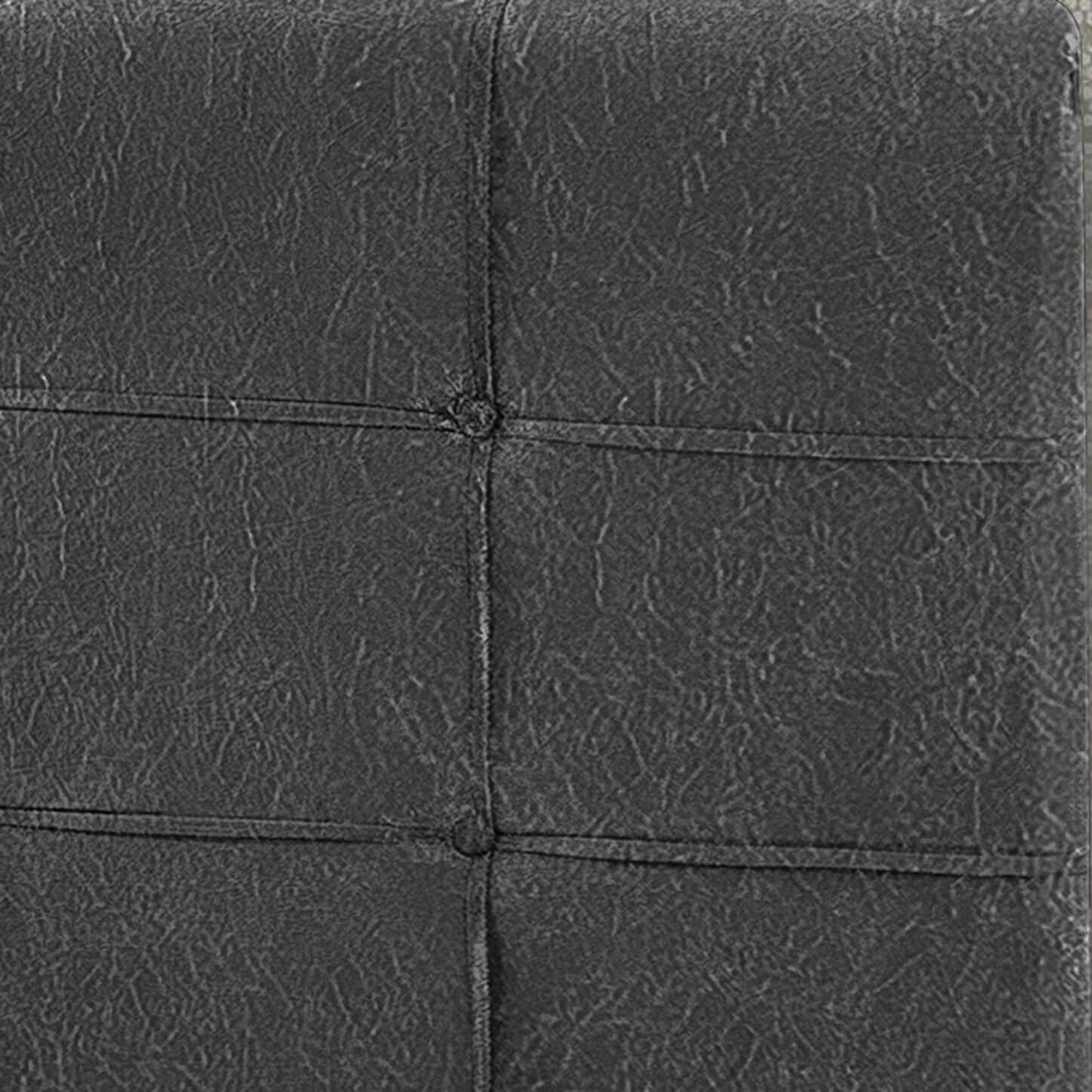 Cabeceira Box Solteiro Hadassa 0.90  Suede Cinza - R.A Estofados