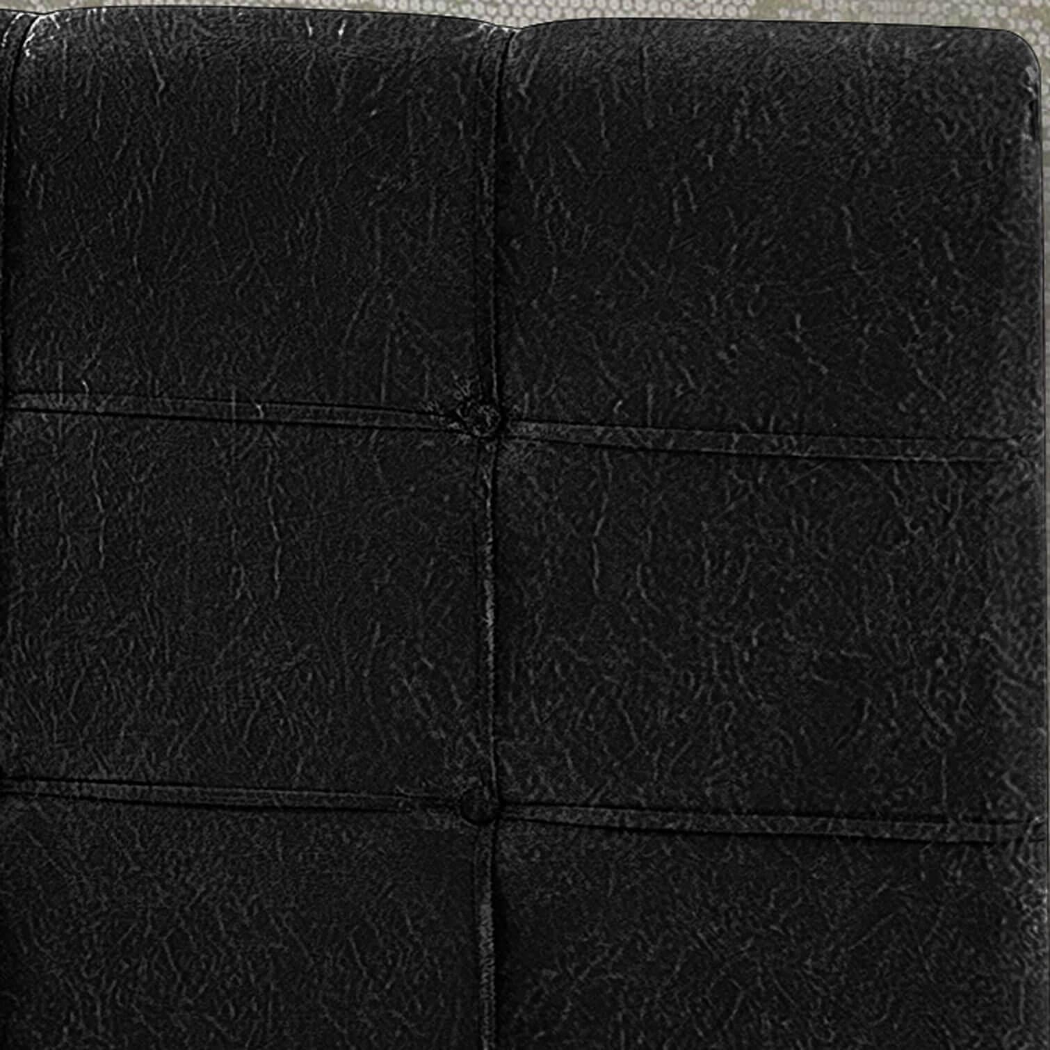 Cabeceira Box Solteiro Hadassa 0.90  Suede Preto - R.A Estofados