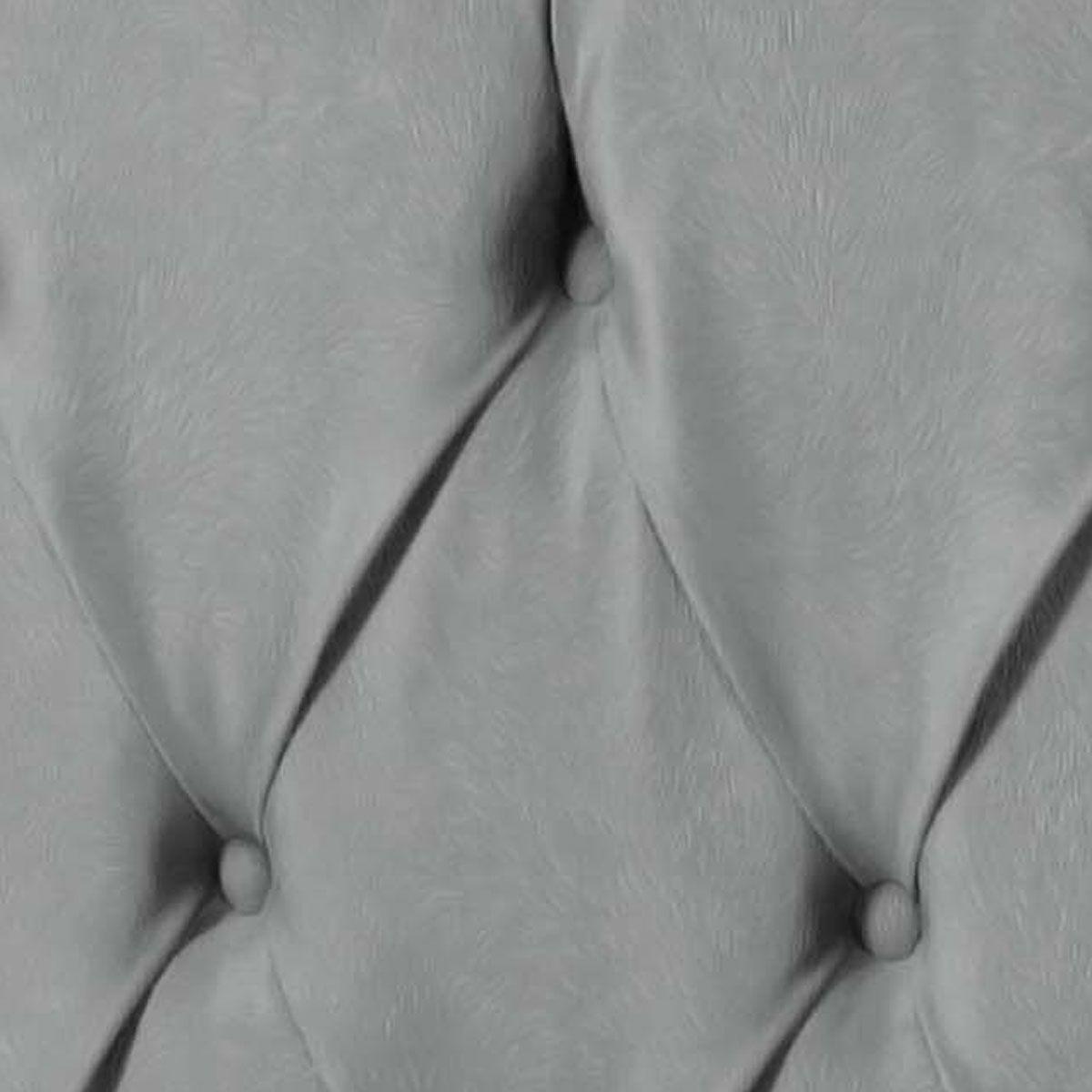 Cabeceira Intense Casal 1.4  Suede Cinza - LH Móveis