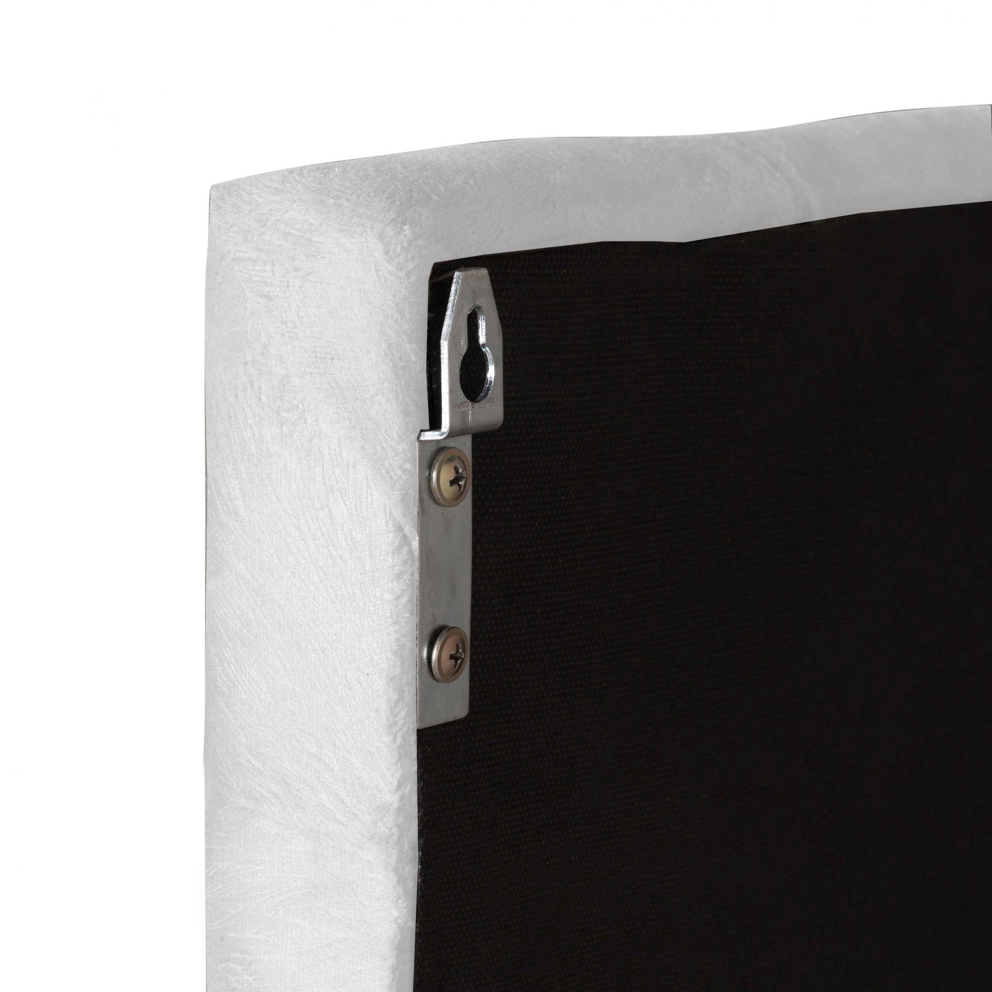 Cabeceira Intense Solteiro 0.90 Corino Branco - LH Móveis