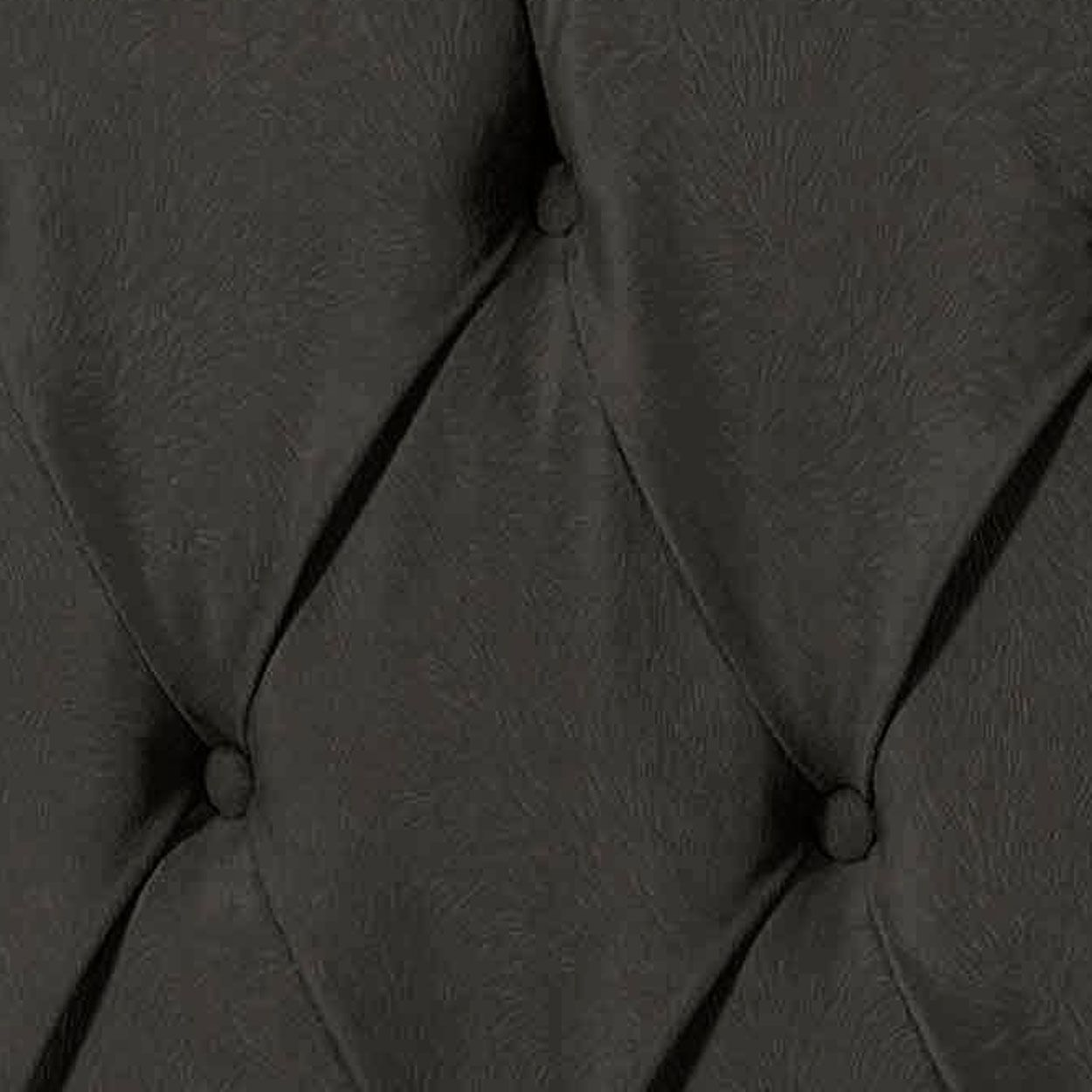 Cabeceira Intense Solteiro 0.90 Corino Preto - LH Móveis