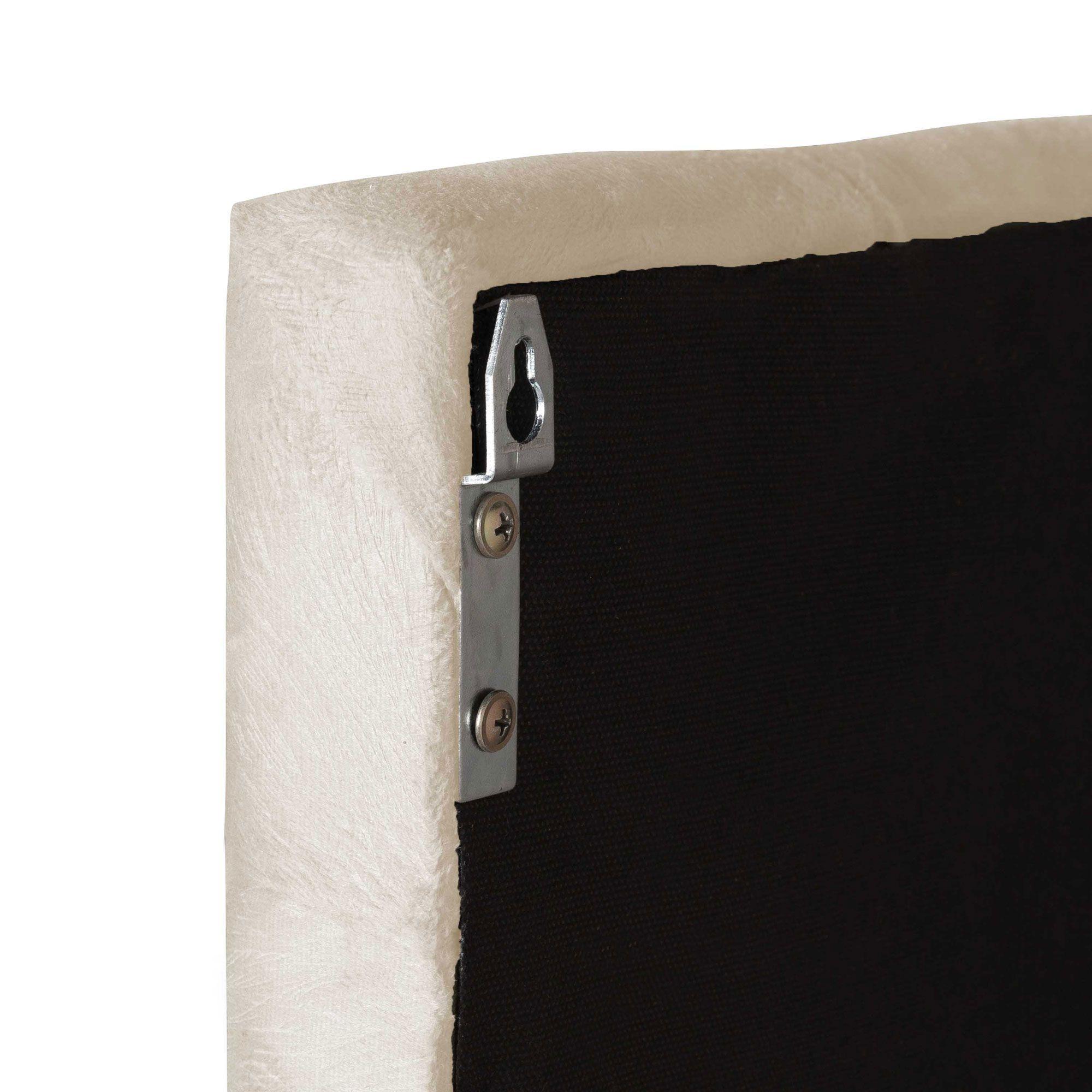 Cabeceira Cama Box Queen Valência 1.6  Suede Areia - LH Móveis