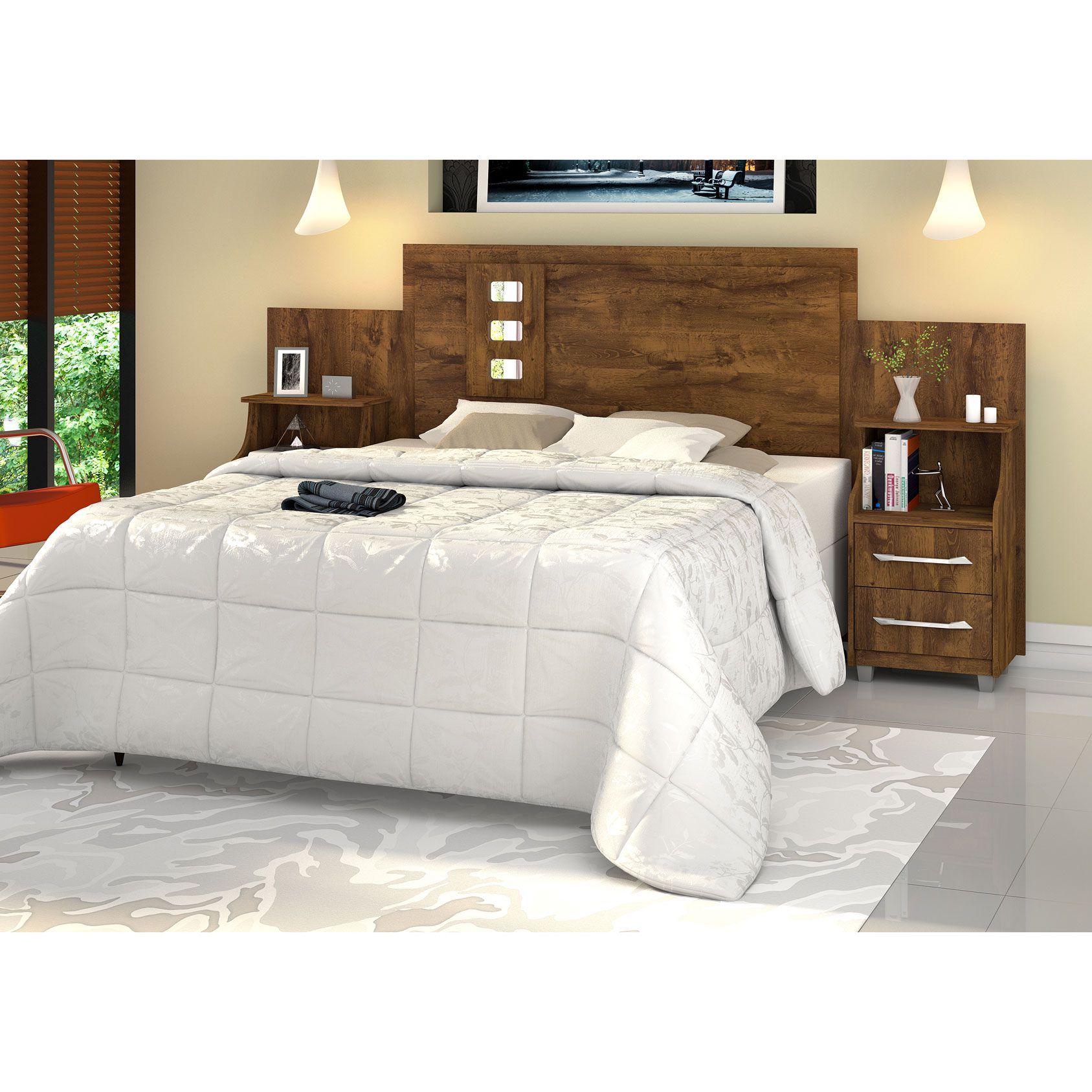 Cabeceira para cama Casal/Queen/King com Criados Flórida