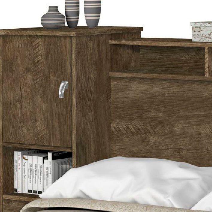 Cabeceira Queen Pietra  Castanho Wood - Móveis Cambel