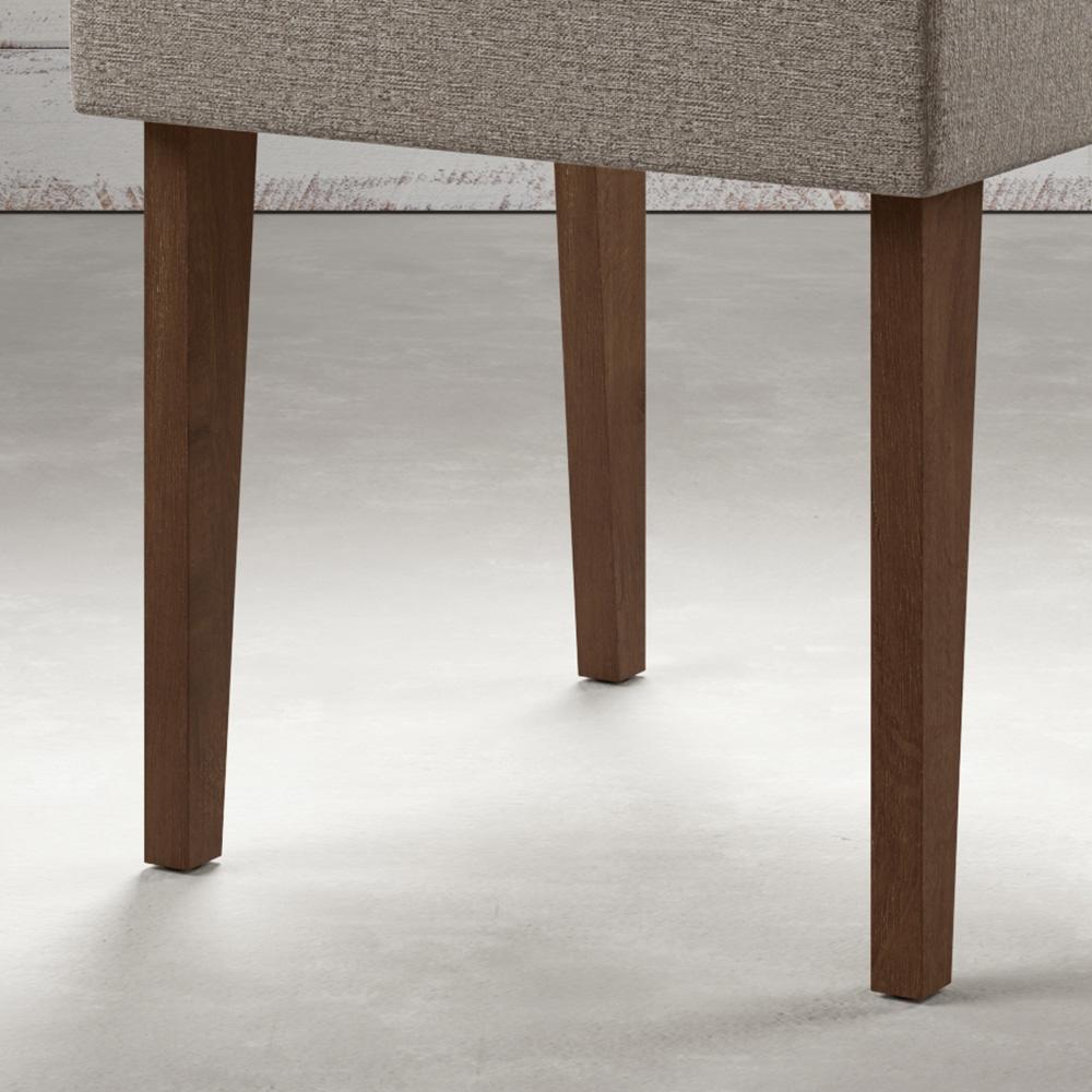 Cadeira Estofado Madeira Maciça Noce / Titânio