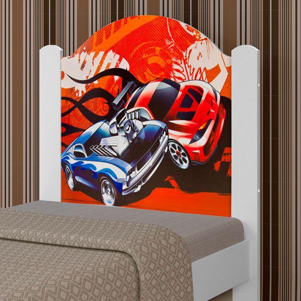 Cama de Solteiro Adesivada Cars - Luke Móveis