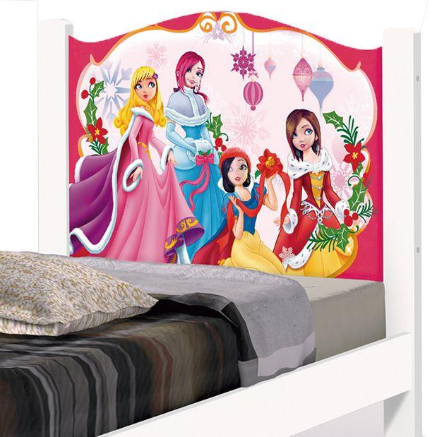 Cama Solteiro Adesivada Princesas