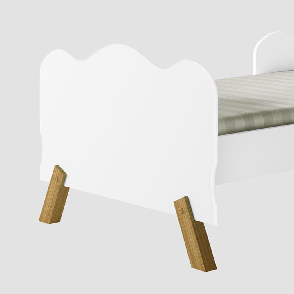 Mini Cama Infantil Angel Branca  - Moveis Cambel