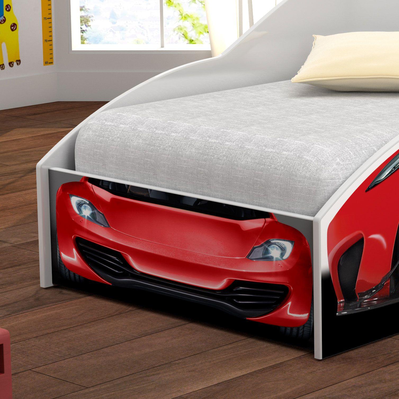 Mini Cama Carro Corrida Vermelho