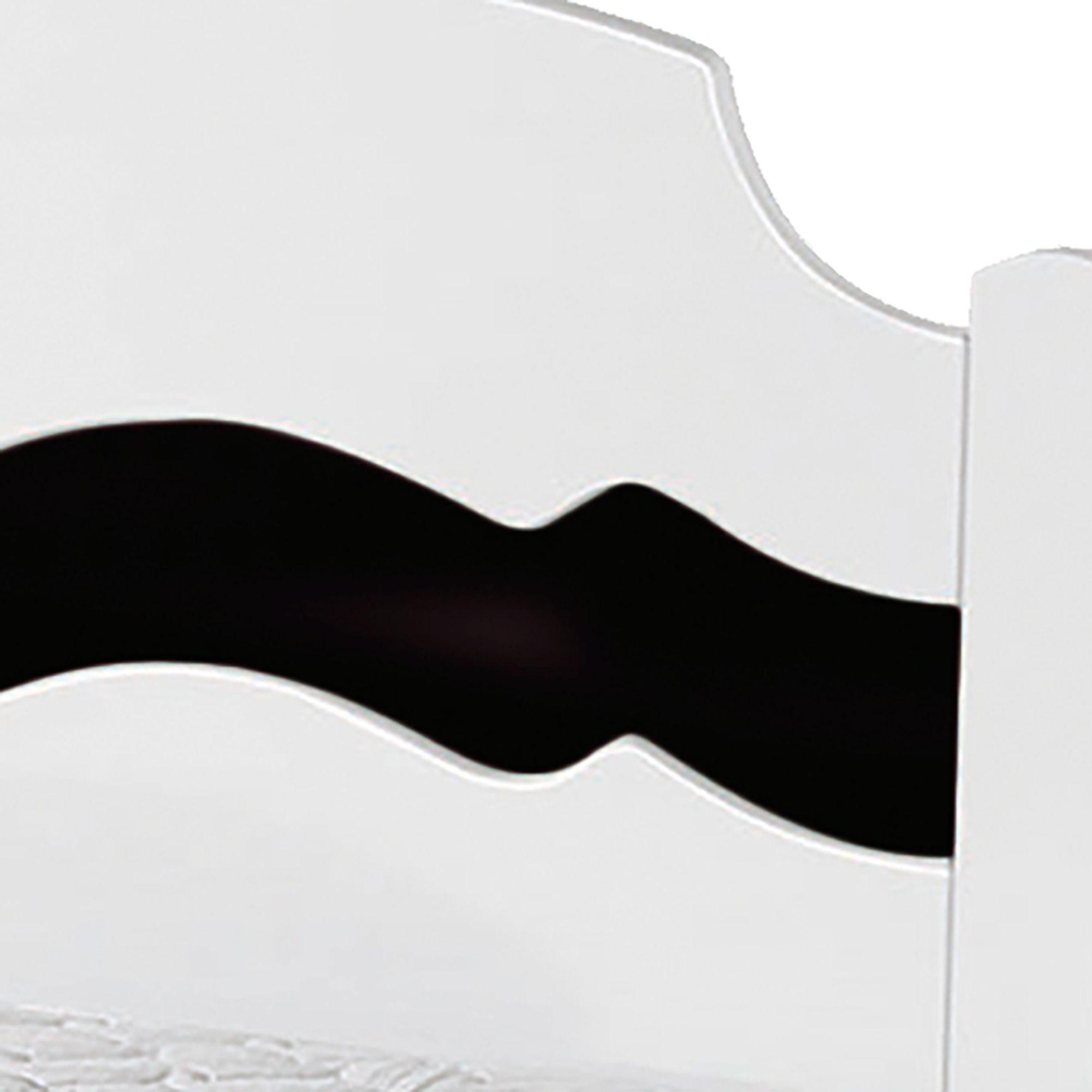 Cama Solteiro Iris Branco/Preto com Colchão