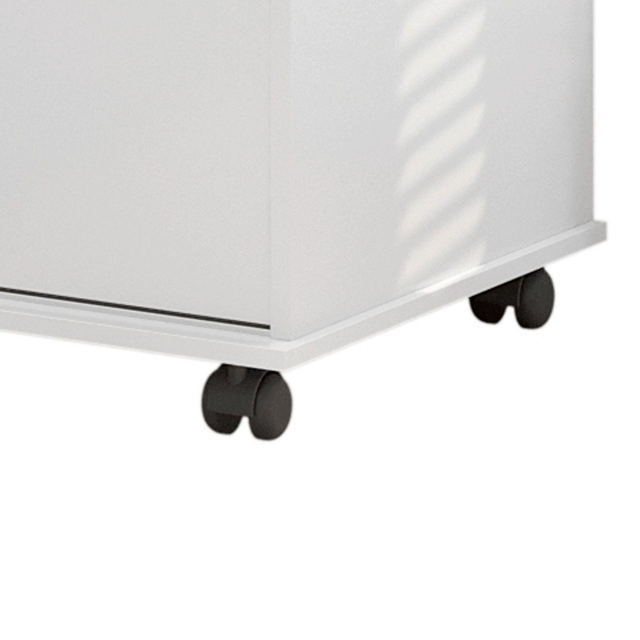 Cômoda Max 2020 6 Gavetas Branco Brilho