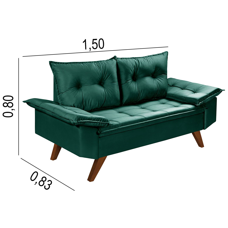 Conjunto Sofás Retrô Bariloche Verde