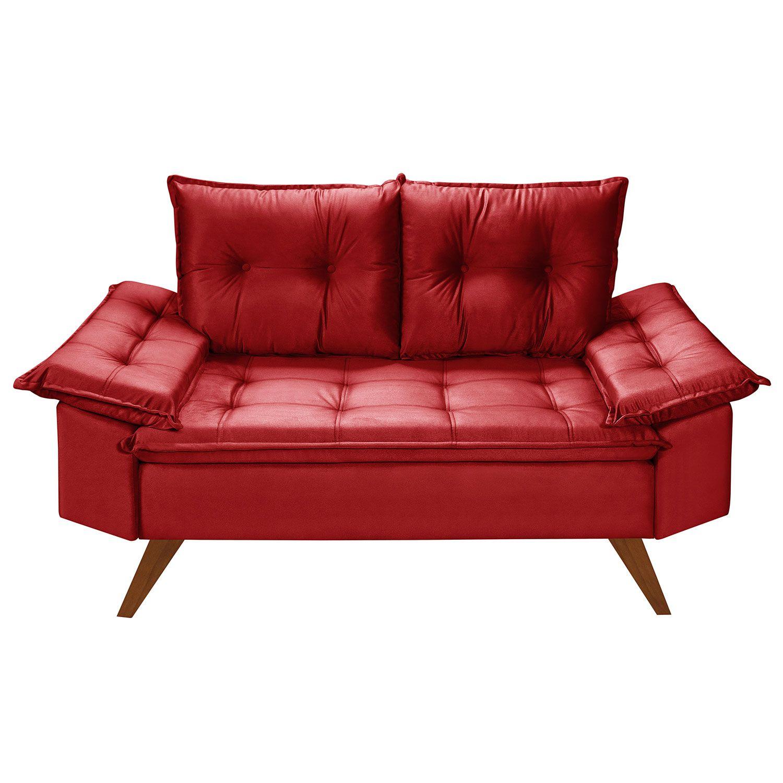 Conjunto Sofás Retrô Bariloche Vermelho