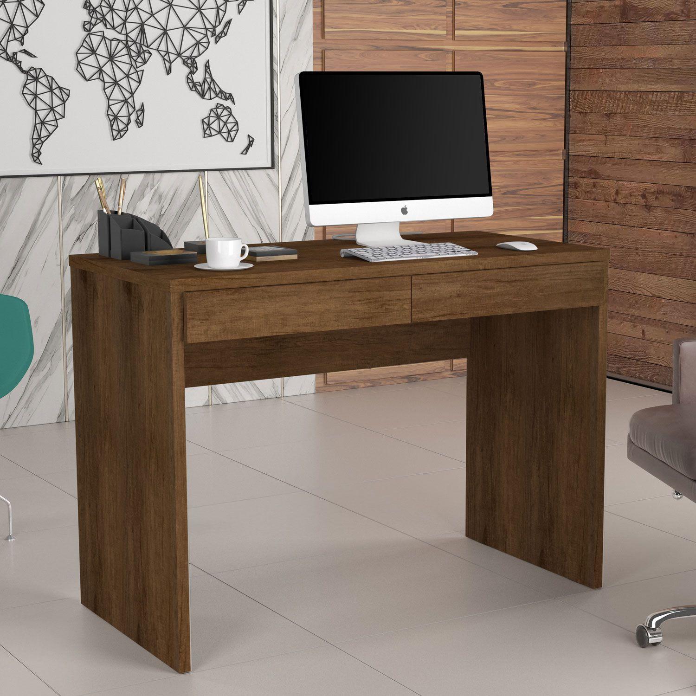Escrivaninha 2 Gavetas 6080 Canela