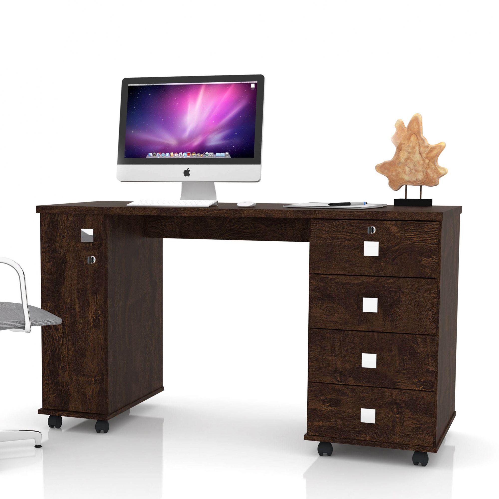Escrivaninha 4 Gavetas Noce Office Smart