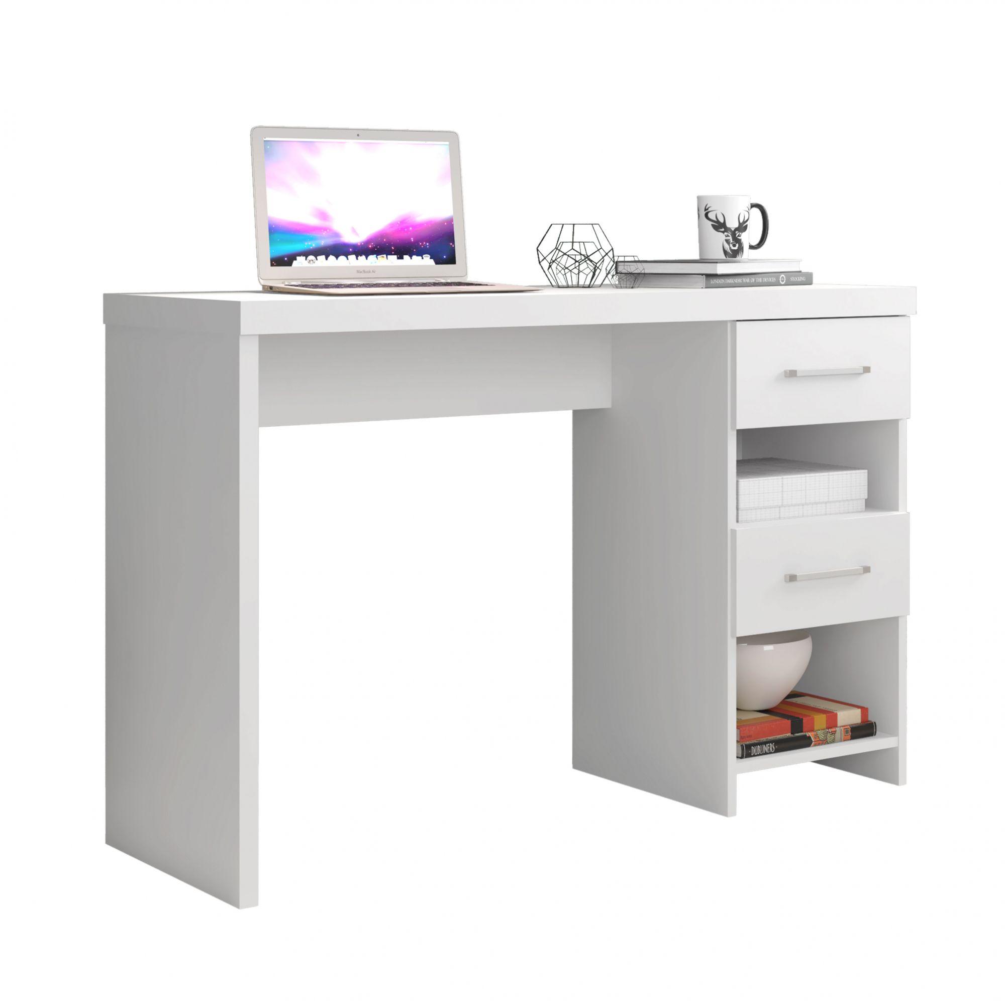 Escrivaninha Duna Branco Acetinado - Germai Móveis