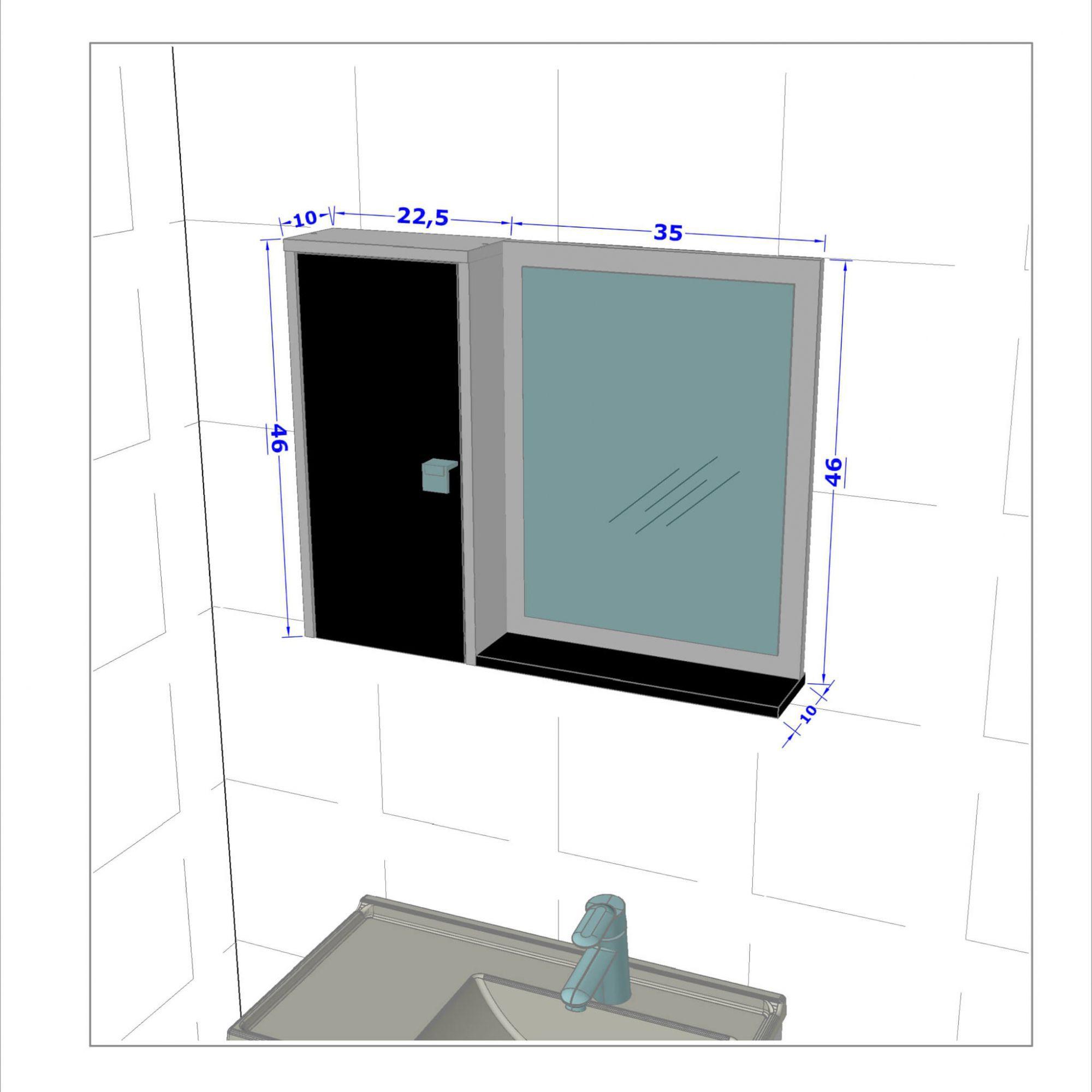 Espelheira para Banheiro Gênova Madeira Rústica - Móveis Bechara