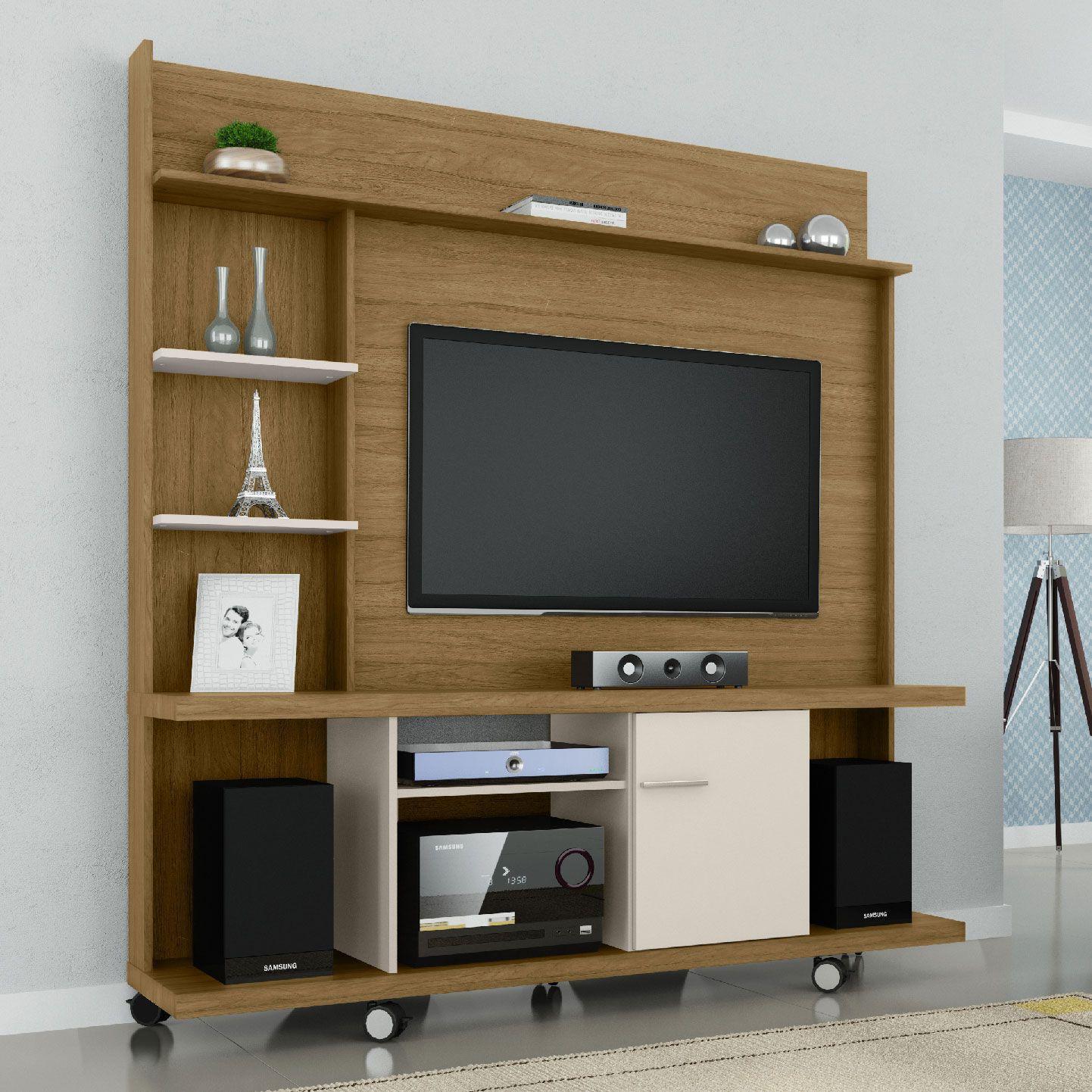 Estante Home para Tv até 47 polegadas Taurus Cinamomo / Off White - Móveis Bechara