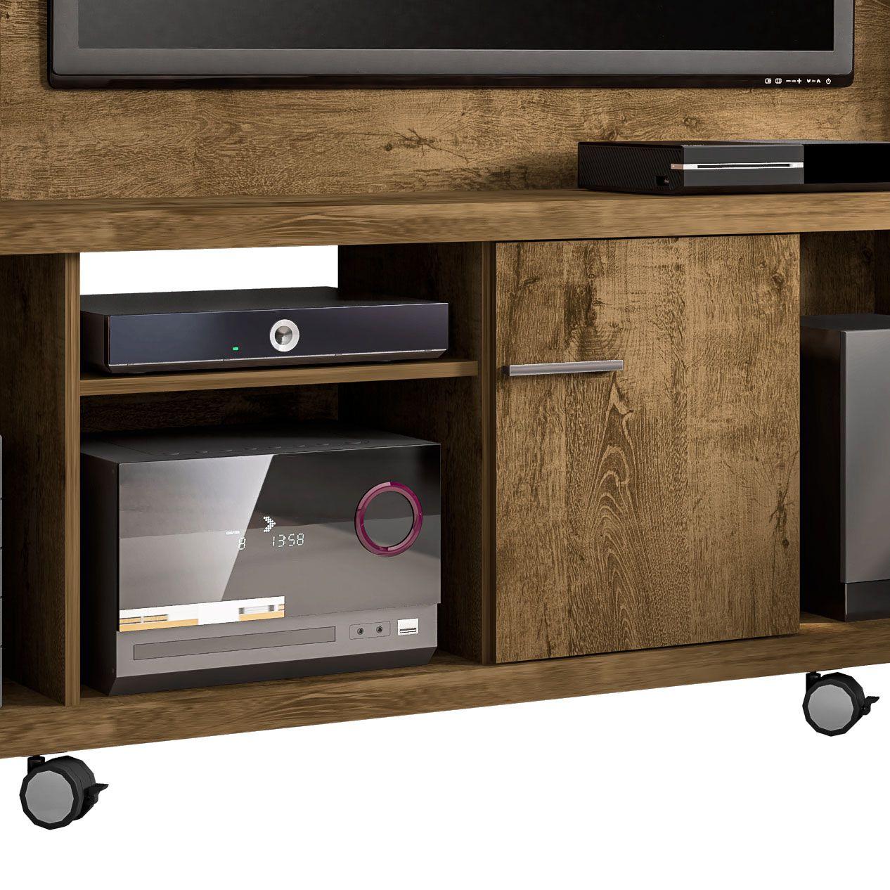 Estante Home para Tv ate 47 polegadas Taurus Madeira Rustica - Moveis Bechara