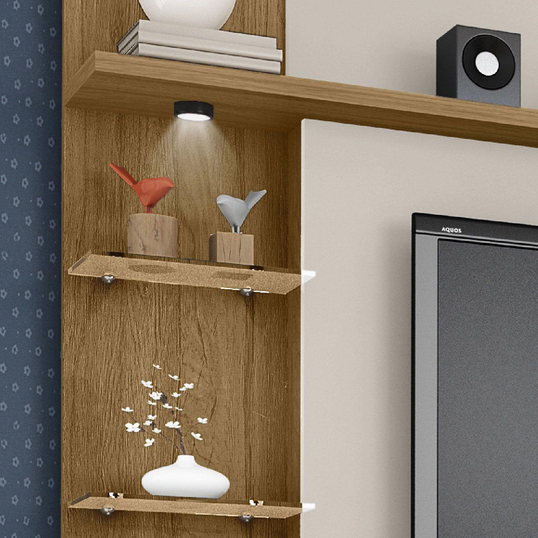 Estante Home para Tv até 50 polegadas New Torino Cinamomo / Off-White - Móveis Bechara