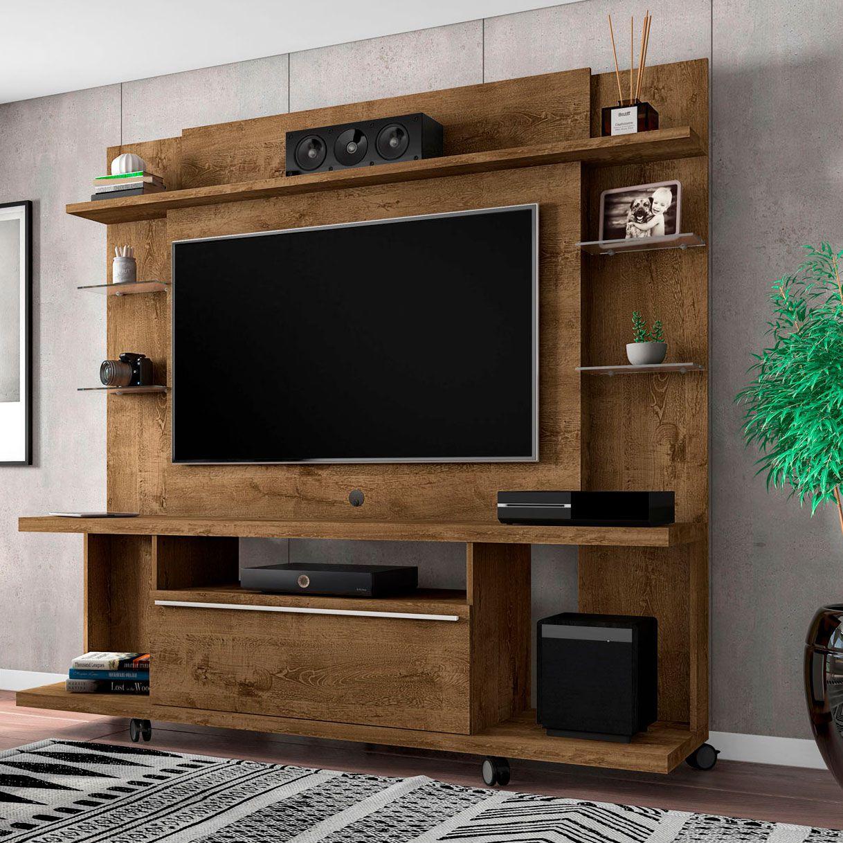 Estante Home para Tv ate 50 polegadas New Torino Madeira Rustica - Moveis Bechara