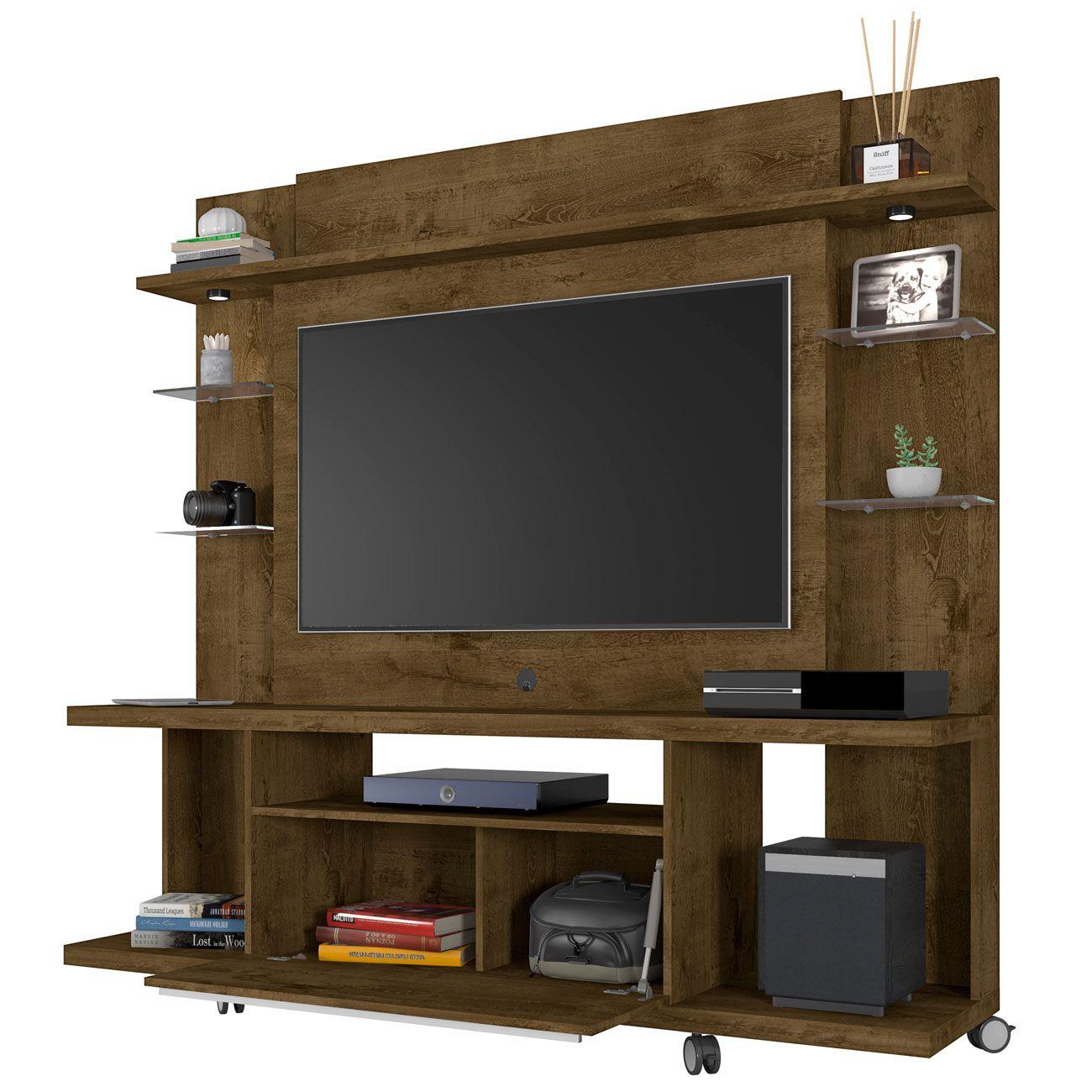 Estante Home para Tv até 50 polegadas New Torino Madeira Rústica - Móveis Bechara
