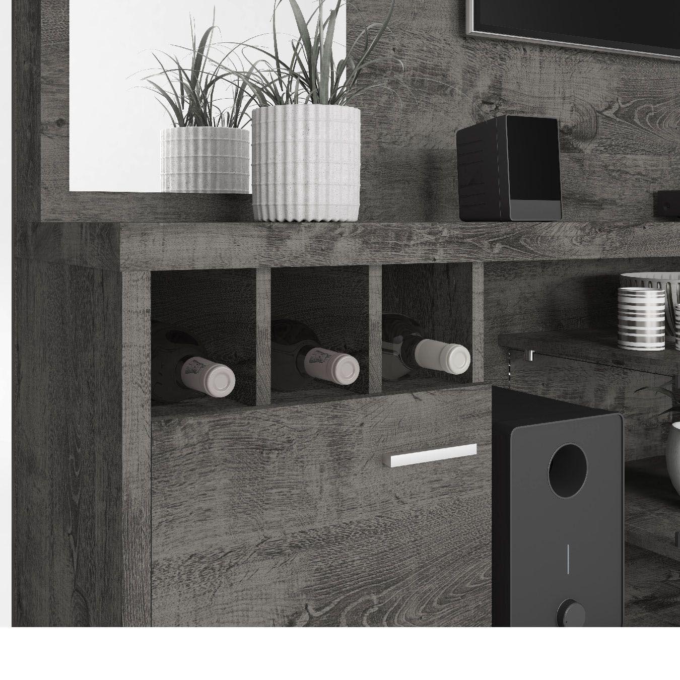 Estante Home para Tv até 60 polegadas Tucson Cinamomo / Off White - Móveis Bechara