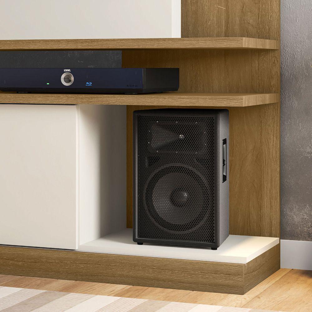 Estante Home para Tv até 60 polegadas York Cinamomo / Off-White - Móveis Bechara