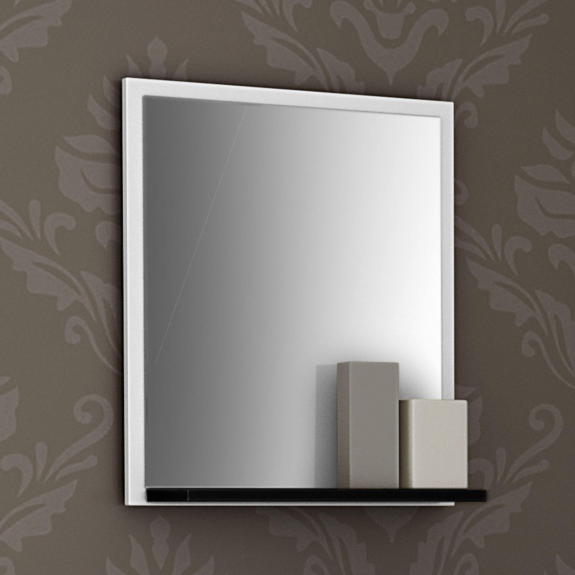 Gabinete com Espelheira Siena Branco / Preto  - Moveis Bechara