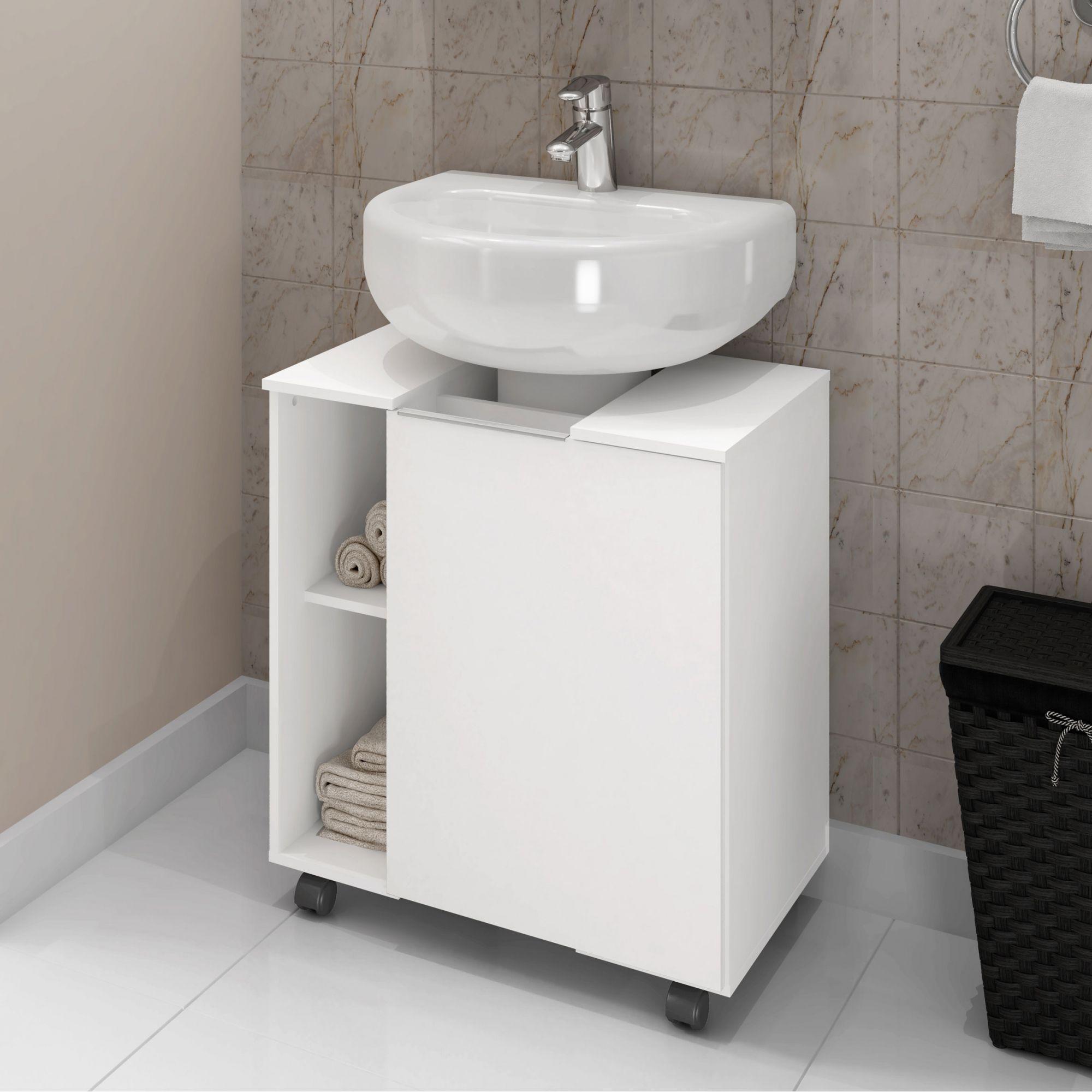 Gabinete para Banheiro Pequin Branco - Móveis Bechara