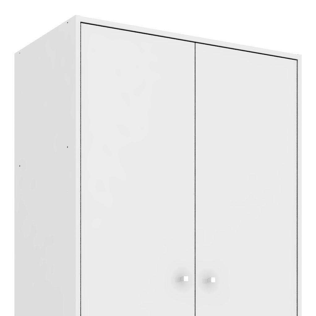 Guarda-Roupa 2 Portas Milão Branco - Móveis Bechara